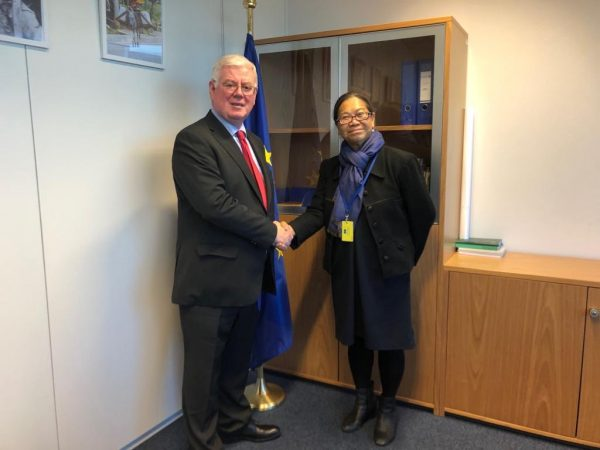 Very good discussion with Cecilia Jimenez- Damary, UN Special Rapporteur on the human rights of internally displaced persons.