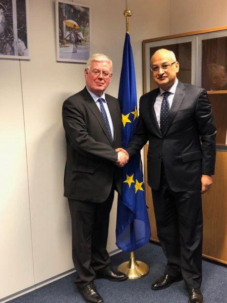 Receiving H.E. Khaled El Bakly, Ambassador of Egypt.