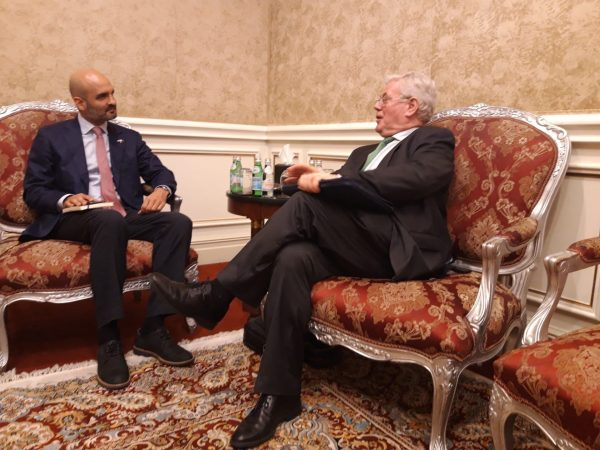Meeting with H.E. Mr. Houtan Homayounpour, the Head of the ILO project Office for the State of Qatar