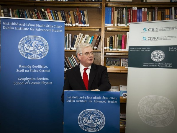 Opening by the Tánaiste of Ireland's National Data Centre for the Comprehensive Nuclear Test-Ban Treaty Organisation 22 June 2012, Dublin Institute for Advanced Studies
